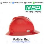 MSA Helm Fullbrim Red