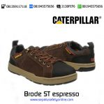 Sepatu Safety Caterpillar Brode ST espresso original