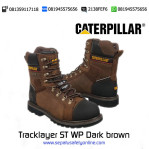 Sepatu Safety Caterpillar Tracklayer ST WP Dark brown original