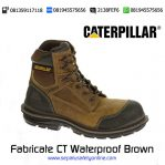 Sepatu safety Caterpillar Fabricate CT Waterproof Brown Original