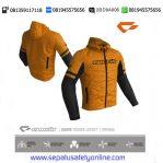 Jaket Motor Harian Contin Suave Ori Orange Waterproof Berprotector