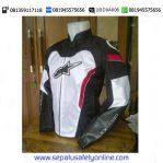 Jaket Motor Keren Alpinestar GP (Hitam-Putih)