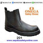 Grosir Sepatu Safety Omega 201, Jual Sepatu Safety Murah Malang